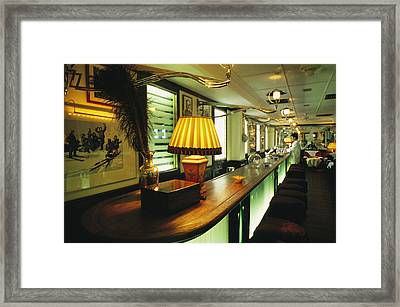 The Long March Bar At The China Club Framed Print by Justin Guariglia