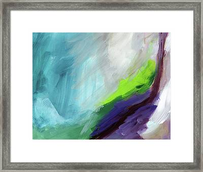 The Long Walk- Art By Linda Woods Framed Print by Linda Woods