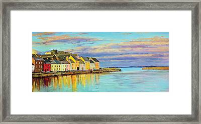 The Long Walk Galway Framed Print by Conor McGuire