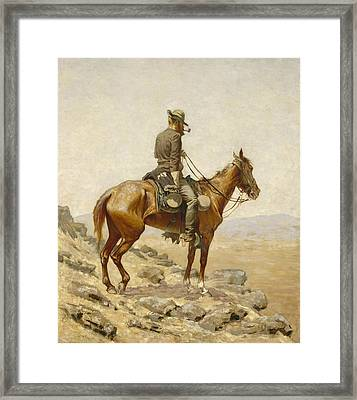 The Lookout Framed Print by Frederic Remington