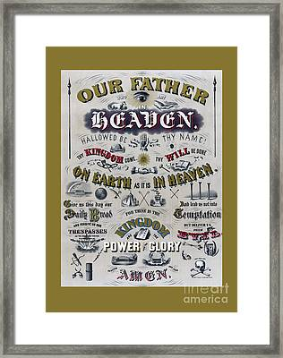 The Lords Prayer Framed Print by Edward Fielding