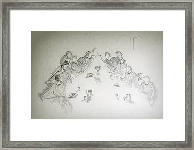 The Last Supper Framed Print by Rayla Noel