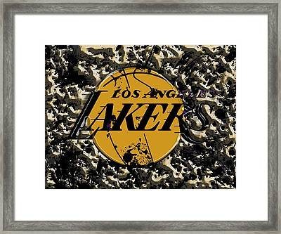 The Los Angeles Lakers B3a Framed Print by Brian Reaves