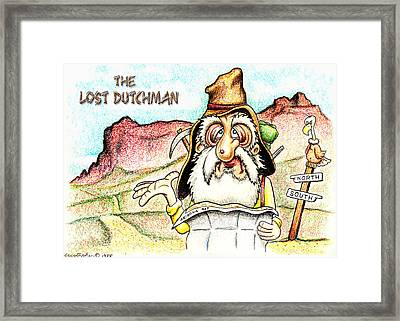 The Lost Dutchman Framed Print by Cristophers Dream Artistry