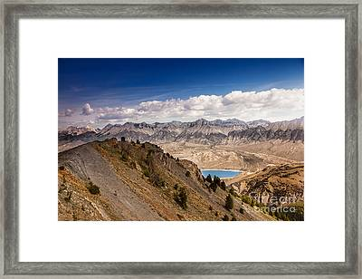 The Lost River Mountain Range Framed Print by Robert Bales