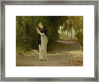 The Love Letter Framed Print by Marcus Stone