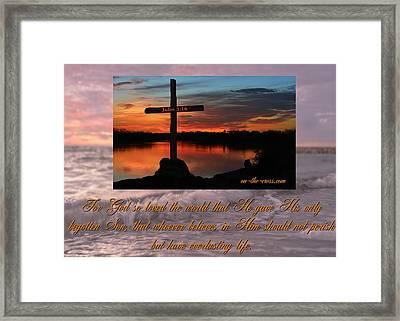 The Love Of God Framed Print by Leticia Latocki
