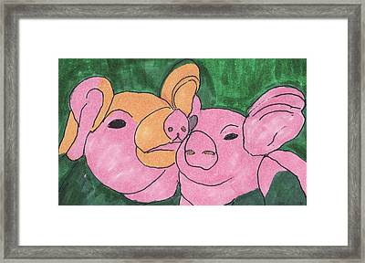The Love Piglets Framed Print by Golden Dragon