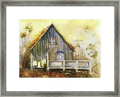 The Lovely Cabin Framed Print by Kristina Vardazaryan