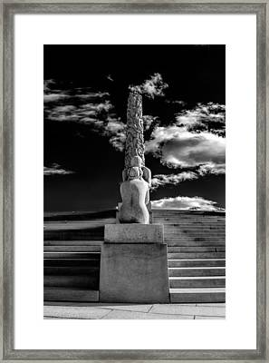 The Lovers And The Monolith Framed Print by Erik Brede