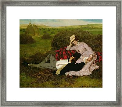 The Lovers Framed Print by Pal Szinyei Merse