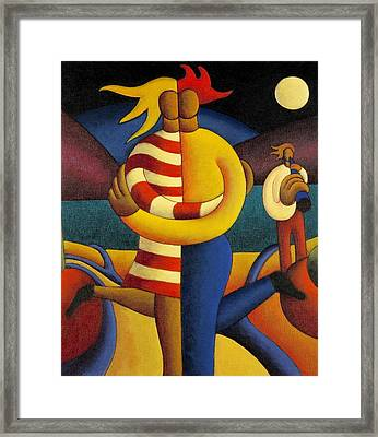 The Lovers Seranade Framed Print by Alan Kenny
