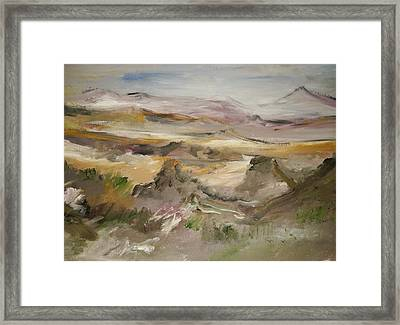 The Lower Mountain Range Framed Print by Edward Wolverton