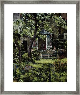 The Lutyens Bench Framed Print by Christopher Glanville