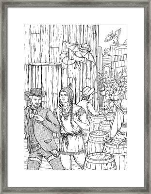 The Lynch Mob Framed Print by Reynold Jay