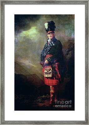The Macnab Framed Print by Sir Henry Raeburn