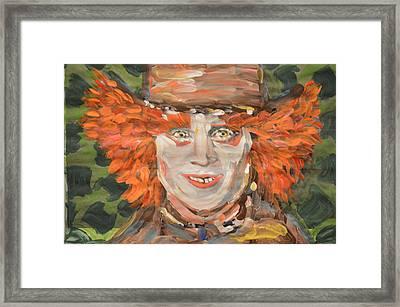The Mad Hatter Framed Print by Vikram Singh