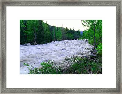 The Mad River Framed Print by Jeff Swan