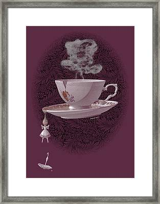 The Mad Teacup - Rose Framed Print by Swann Smith