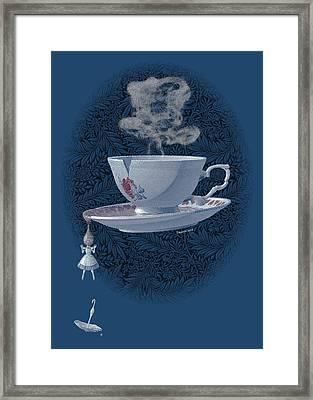 The Mad Teacup - Royal Framed Print by Swann Smith