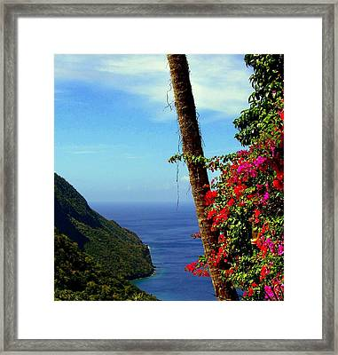 The Magic Of St. Lucia Framed Print by Karen Wiles