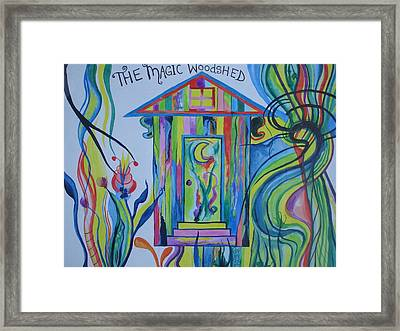 The Magic Woodshed Framed Print by Erika Swartzkopf
