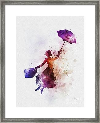 The Magical Nanny Framed Print by Rebecca Jenkins
