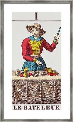 The Magician Tarot Card Framed Print by French School