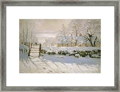 The Magpie Framed Print by Claude Monet