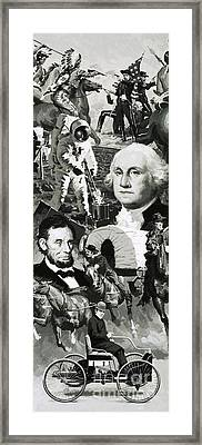 The Making Of America Montage Framed Print by Angus McBride