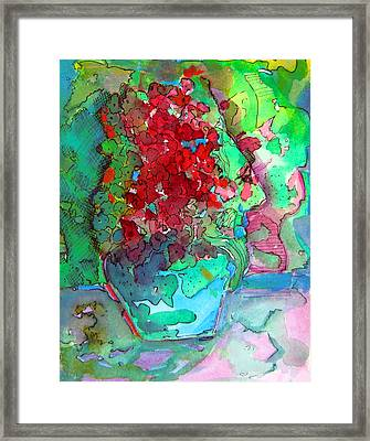 The Man In The Flower Pot Framed Print by Mindy Newman