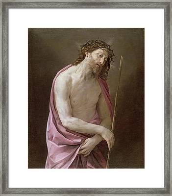The Man Of Sorrows Framed Print by Guido Reni