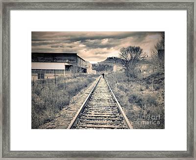 The Man On The Tracks Framed Print by Tara Turner