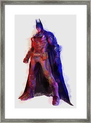 The Man With A Cape Framed Print by Caito Junqueira