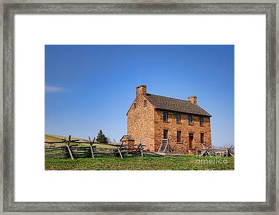 The Manassas Stone House Framed Print by Olivier Le Queinec