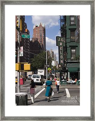 The Manhattan Sophisticate Framed Print by Madeline Ellis