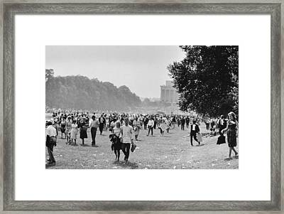 The March On Washington  Heading Home Framed Print by Nat Herz