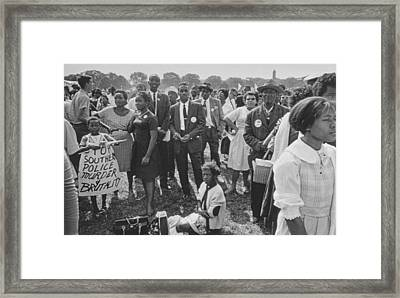 The March On Washington  Washington Monument Grounds Framed Print by Nat Herz