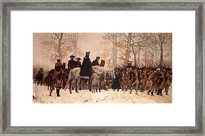The March To Valley Forge Framed Print by Mountain Dreams