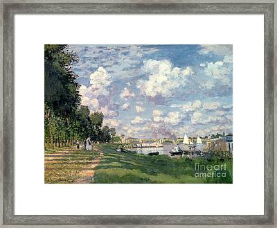 The Marina At Argenteuil Framed Print by Claude Monet