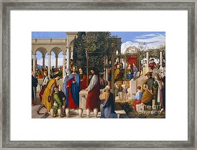 The Marriage At Cana Framed Print by Julius Schnorr von Carolsfeld
