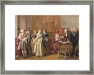 The Marriage  Framed Print by Jules Adolphe Goupil