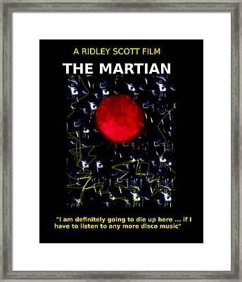 The Martian Movie Poster  Framed Print by Enki Art