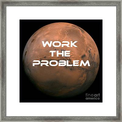 The Martian Work The Problem Framed Print by Edward Fielding