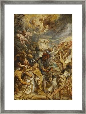The Martyrdom Of Saint Livinus Framed Print by Peter Paul Rubens