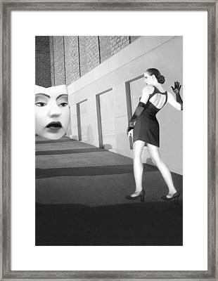 The Mask - Self Portrait Framed Print by Jaeda DeWalt