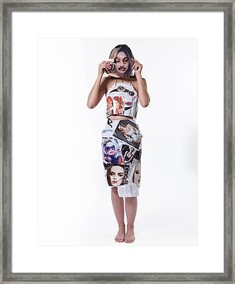 The Mask Framed Print by Gabriela Azuaje