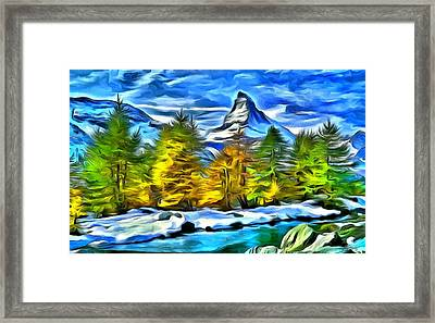 The Matterhorn Framed Print by Maciej Froncisz