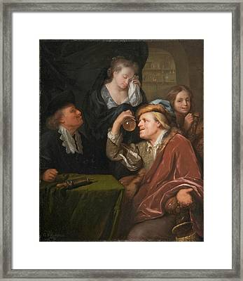 The Medical Examination Framed Print by Godfried Schalcken