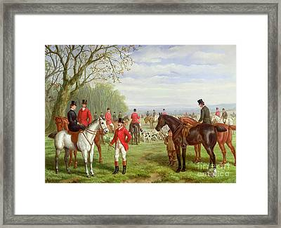 The Meet Framed Print by Edward Benjamin Herberte